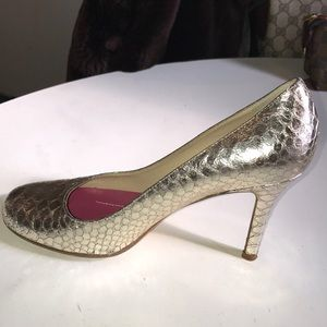 Kate Spade Metallic Leather Pumps